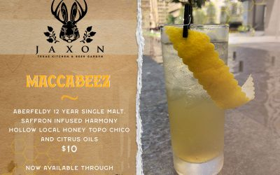 Announcing MACCABEEZ: Cocktail In collaboration with Aberfeldy for the Honey Bee Initiative